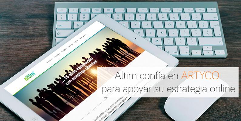 Altim confía en ARTYCO para apoyar su estrategia online